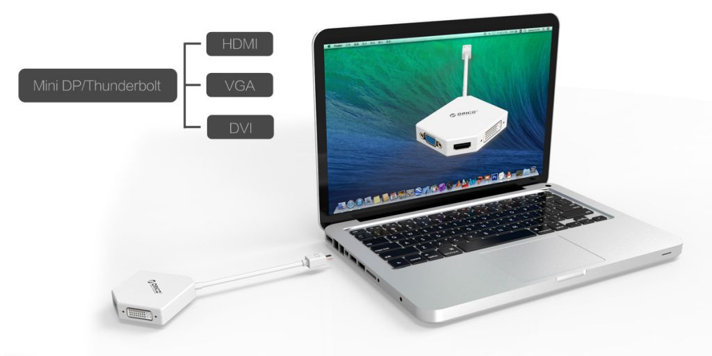 تبدیل پورت Mini Display Port به VGA - HDMI - DVI