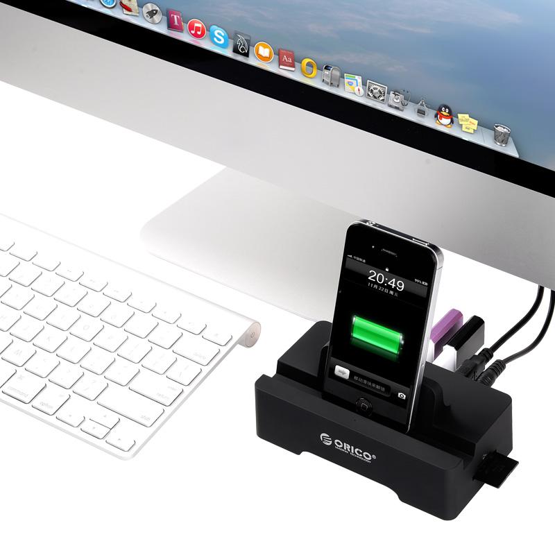 هاب 3 پورت USB 3.0 و 2 پورت شارژ و کارت ریدر
