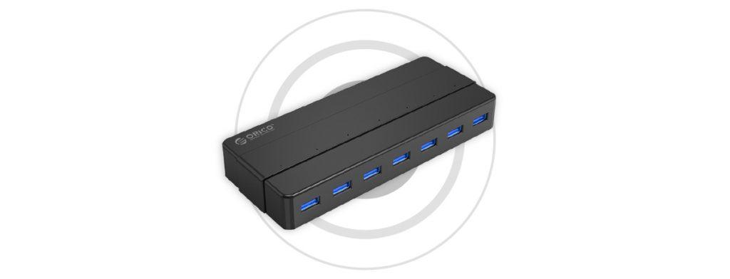 هاب USB 3.0 با آداپتور مدل ORICO H7928-U3