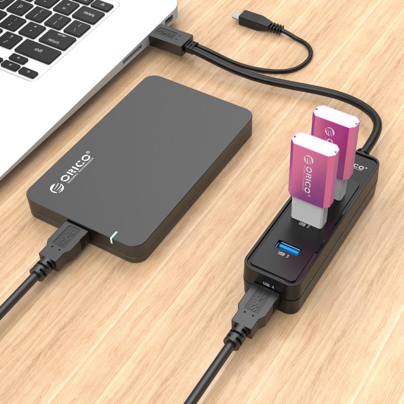 هاب 4 پورت USB3.0 با OTG