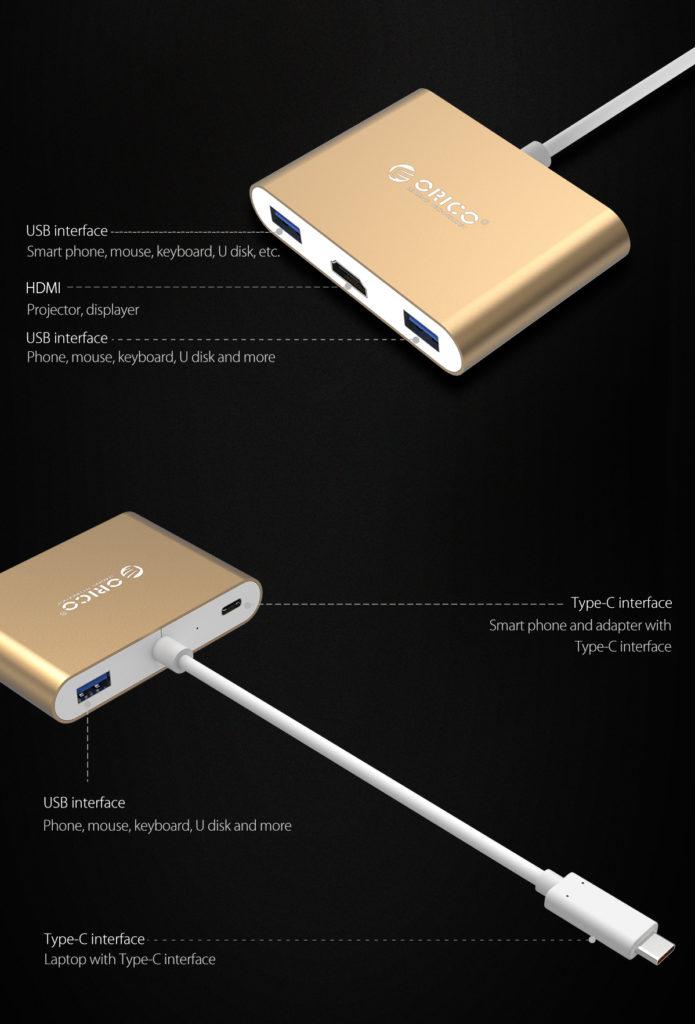 هاب Type-C آلومینیومی به HDMI
