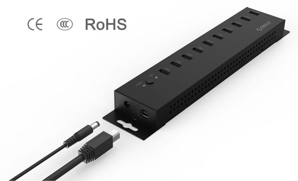 هاب USB صنعتی 10 پورت