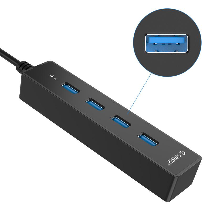 هاب 4 پورت USB3.0 با کابل متصل