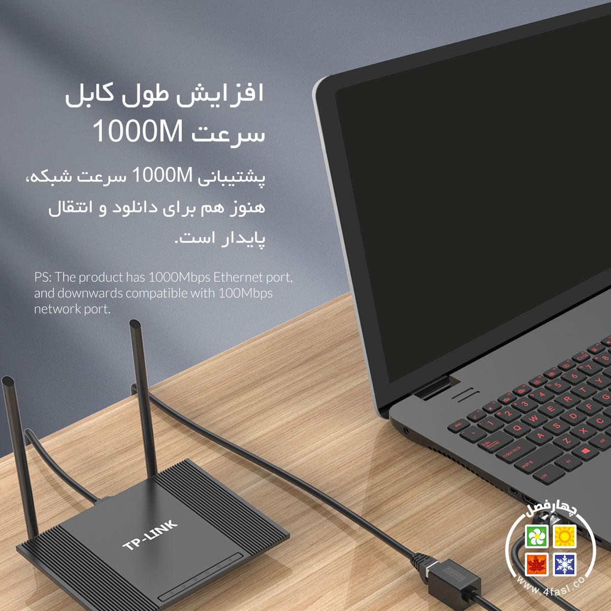 کابل افزایش طول شبکه